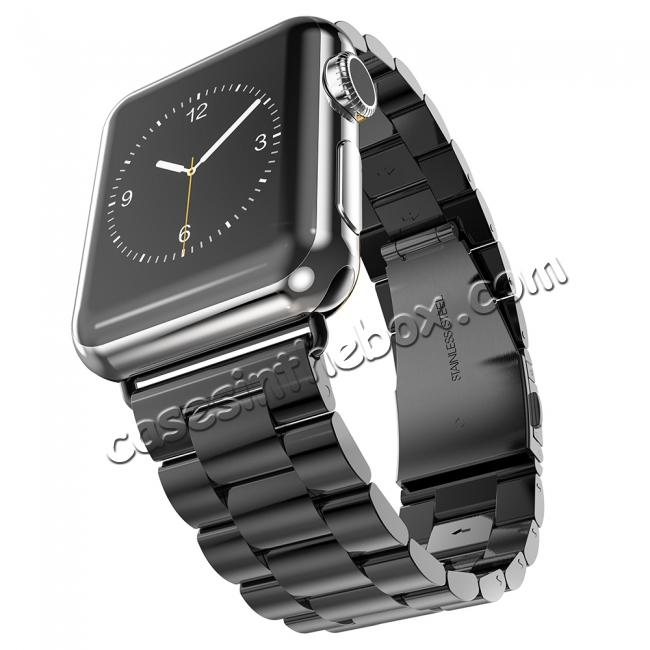 high quanlity HOCO Stainless Steel Strap Classic Buckle Adapter Watch Bands for Apple Watch Series1/Watch Series2