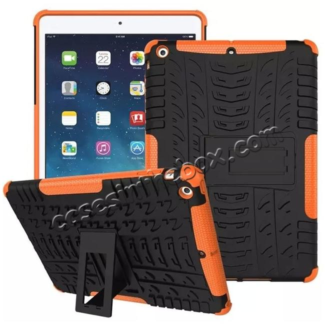 discount Hyun Pattern Dual Layer Hybrid Protective Case with Stand For iPad AIR/iPad 5 - Orange