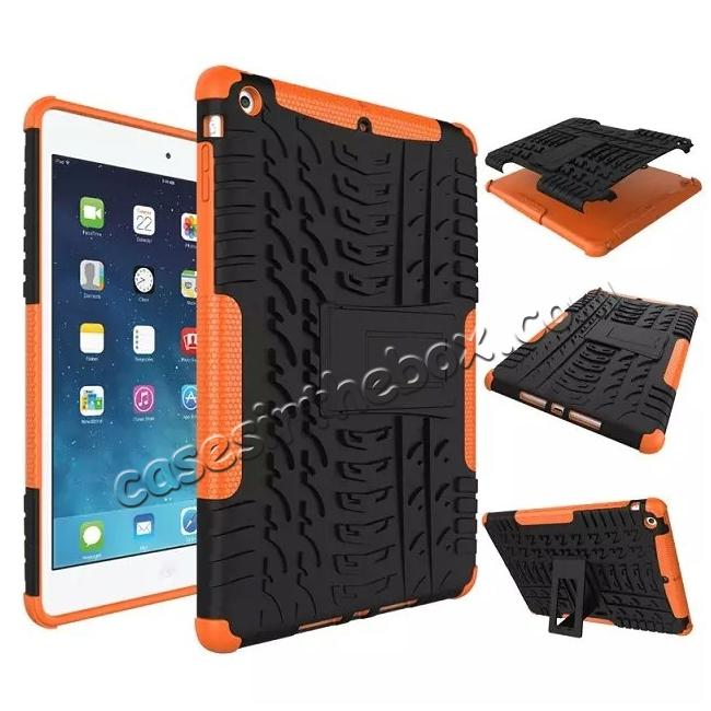 wholesale Hyun Pattern Dual Layer Hybrid Protective Case with Stand For iPad AIR/iPad 5 - Orange