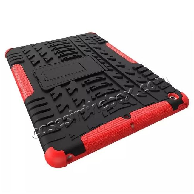 best price Hyun Pattern Dual Layer Hybrid Protective Case with Stand For iPad AIR/iPad 5 - Red
