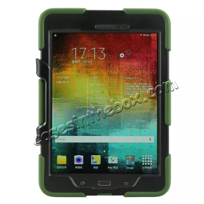 discount ShockProof Protect Case Cover With Stand For Samsung Galaxy Tab A 9.7 T550 - Army green