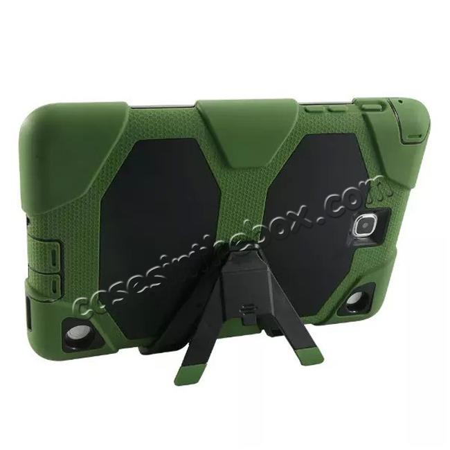 cheap ShockProof Protect Case Cover With Stand For Samsung Galaxy Tab A 9.7 T550 - Army green