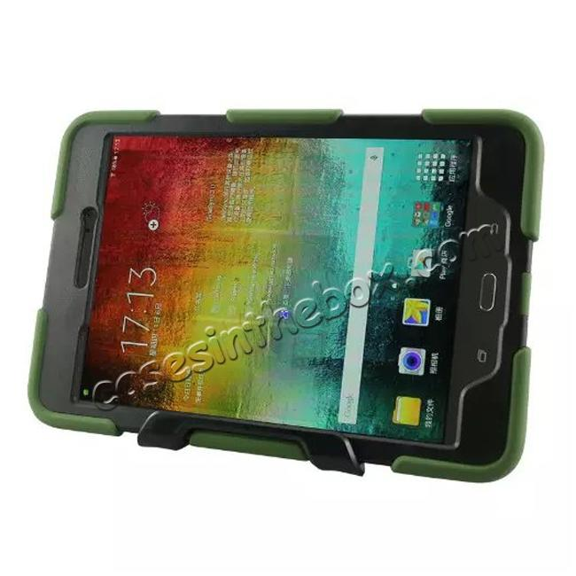 top quality ShockProof Protect Case Cover With Stand For Samsung Galaxy Tab A 9.7 T550 - Army green