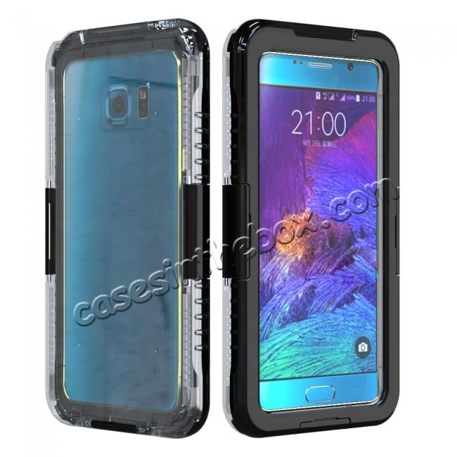 wholesale 100% Waterproof Shockproof Dirt Proof Durable Case For Samsung Galaxy Note 5 - Black
