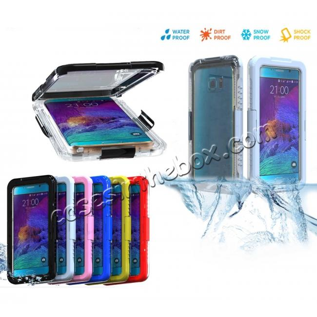 discount 100% Waterproof Shockproof Dirt Proof Durable Case For Samsung Galaxy Note 5 - Blue
