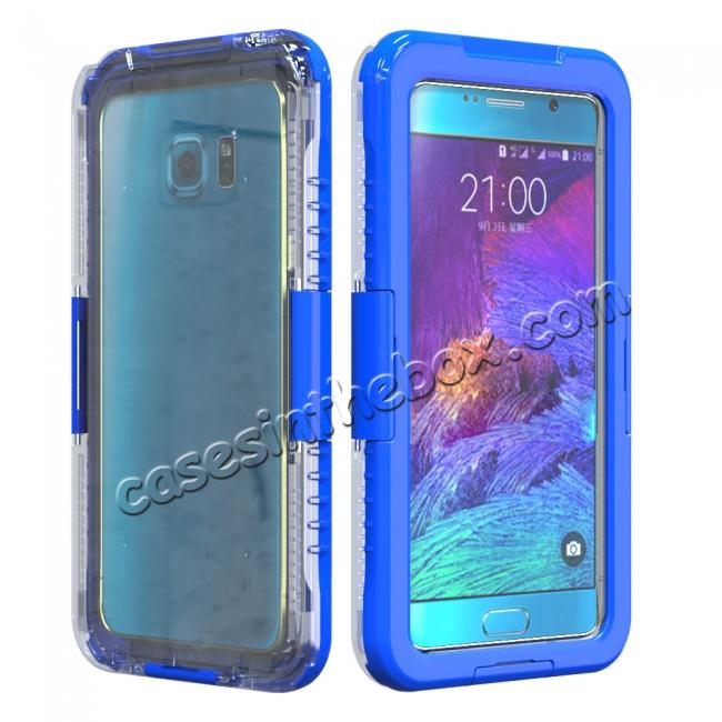 wholesale 100% Waterproof Shockproof Dirt Proof Durable Case For Samsung Galaxy Note 5 - Blue