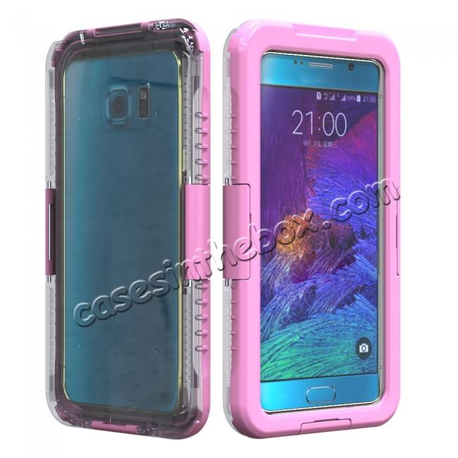 wholesale 100% Waterproof Shockproof Dirt Proof Durable Case For Samsung Galaxy Note 5 - Pink