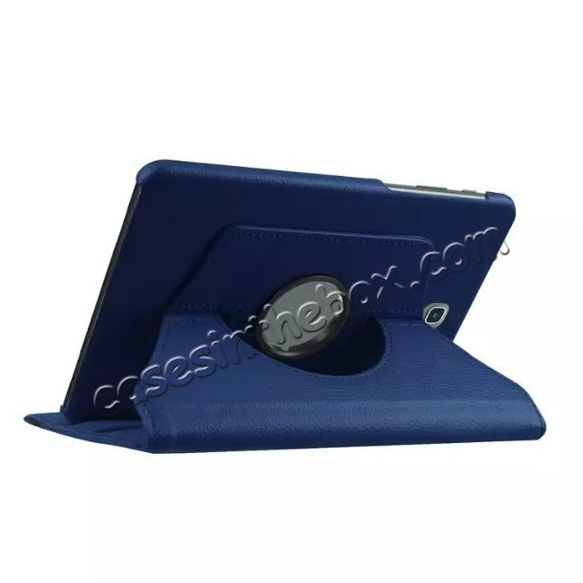 cheap 360 Degree Rotating Leather Smart Case For Samsung Galaxy Tab S2 9.7 T815 - Dark blue