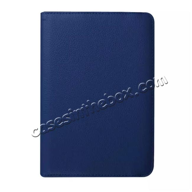 high quanlity 360 Degree Rotating Leather Smart Case For Samsung Galaxy Tab S2 9.7 T815 - Dark blue