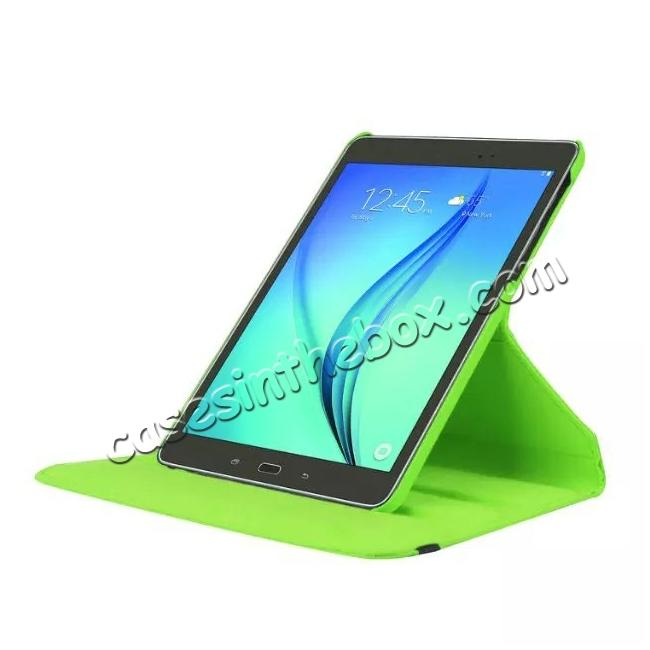 top quality 360 Degree Rotating Leather Smart Case For Samsung Galaxy Tab S2 9.7 T815 - Green