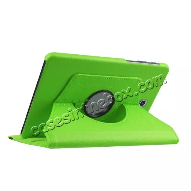 cheap 360 Degree Rotating Leather Smart Case For Samsung Galaxy Tab S2 9.7 T815 - Green