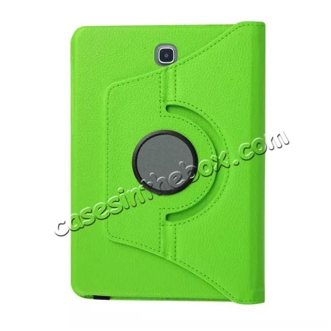 low price 360 Degree Rotating Leather Smart Case For Samsung Galaxy Tab S2 9.7 T815 - Green