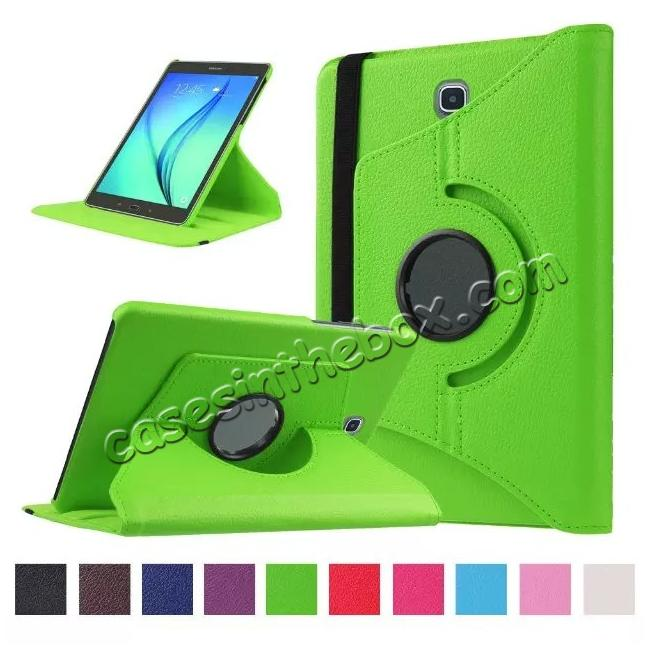 wholesale 360 Degree Rotating Leather Smart Case For Samsung Galaxy Tab S2 9.7 T815 - Green