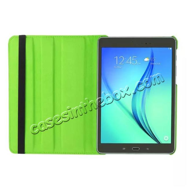on sale 360 Degree Rotating Leather Smart Case For Samsung Galaxy Tab S2 9.7 T815 - Green