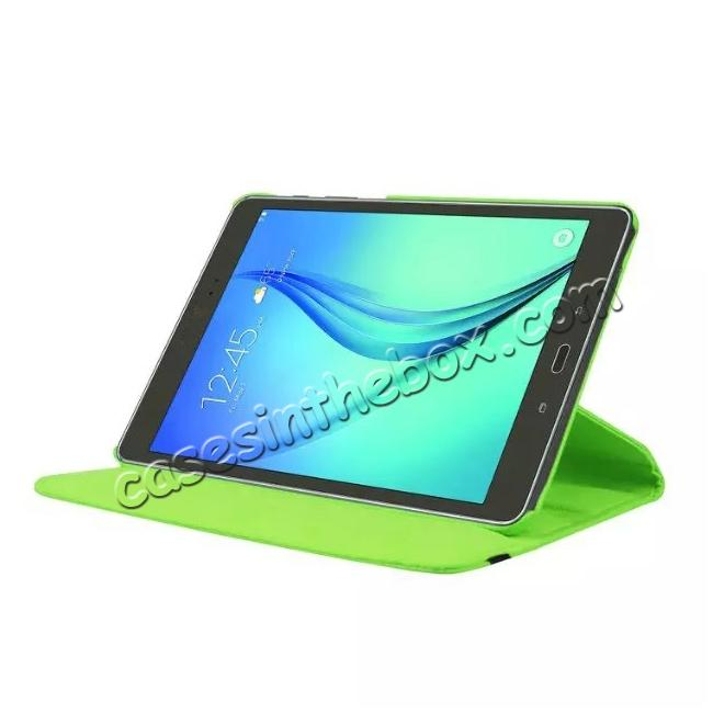 discount 360 Degree Rotating Leather Smart Case For Samsung Galaxy Tab S2 9.7 T815 - Green