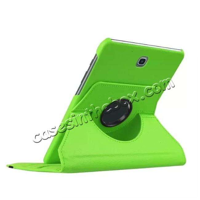 best price 360 Degree Rotating Leather Smart Case For Samsung Galaxy Tab S2 9.7 T815 - Green