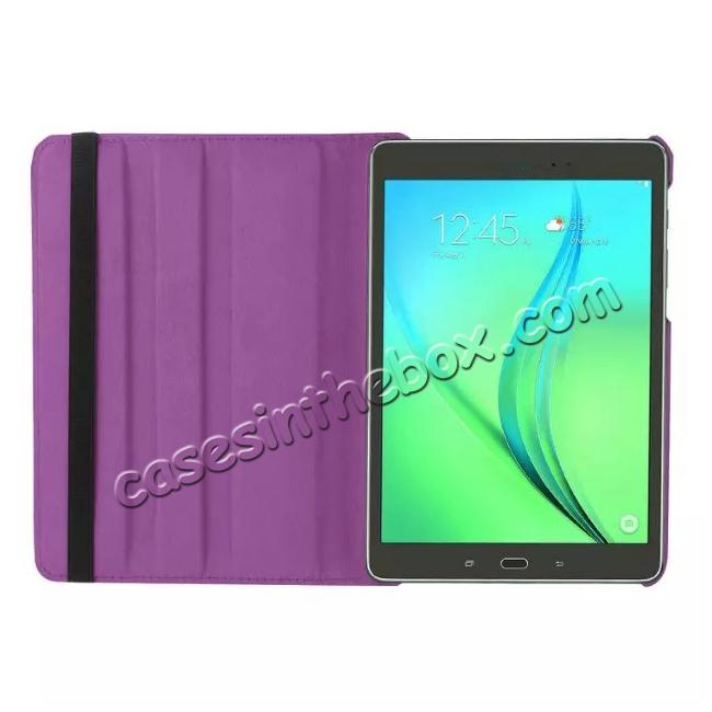 on sale 360 Degree Rotating Leather Smart Case For Samsung Galaxy Tab S2 9.7 T815 - Purple