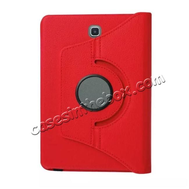 low price 360 Degree Rotating Leather Smart Case For Samsung Galaxy Tab S2 9.7 T815 - Red