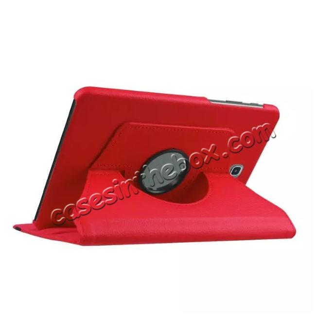 cheap 360 Degree Rotating Leather Smart Case For Samsung Galaxy Tab S2 9.7 T815 - Red