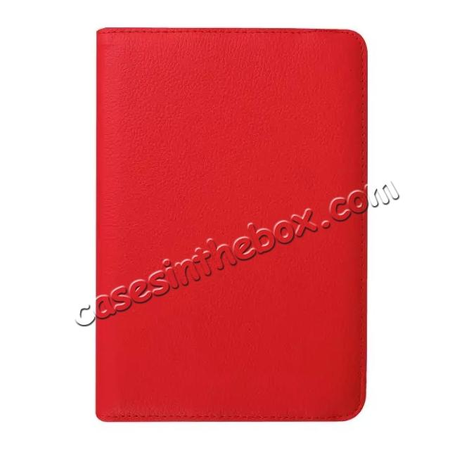 high quanlity 360 Degree Rotating Leather Smart Case For Samsung Galaxy Tab S2 9.7 T815 - Red
