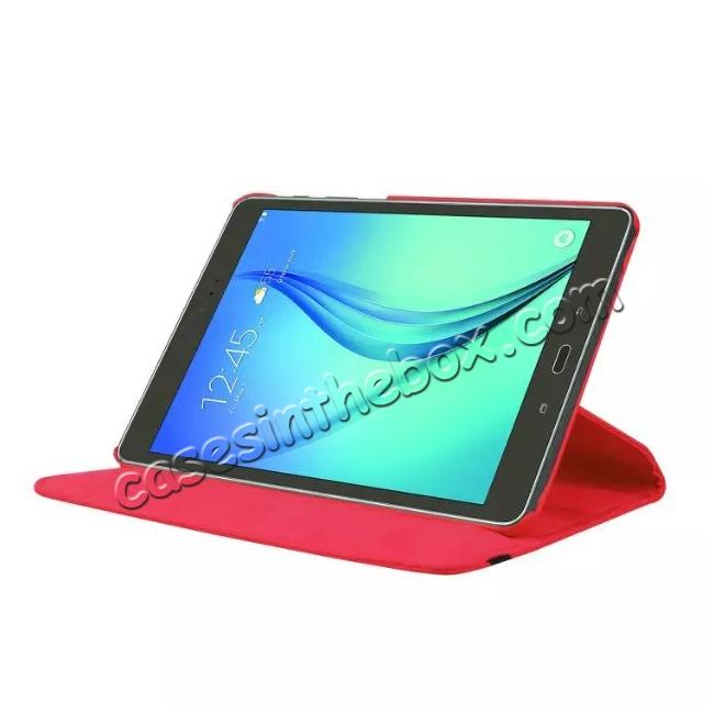 discount 360 Degree Rotating Leather Smart Case For Samsung Galaxy Tab S2 9.7 T815 - Red