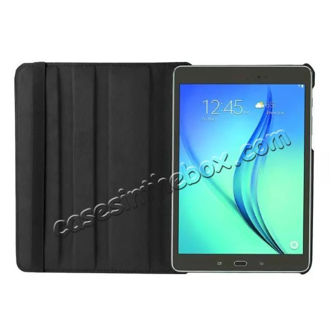 best price 360 Degrees Rotating Stand Leather Case For Samsung Galaxy Tab S2 8.0 T715 - Black