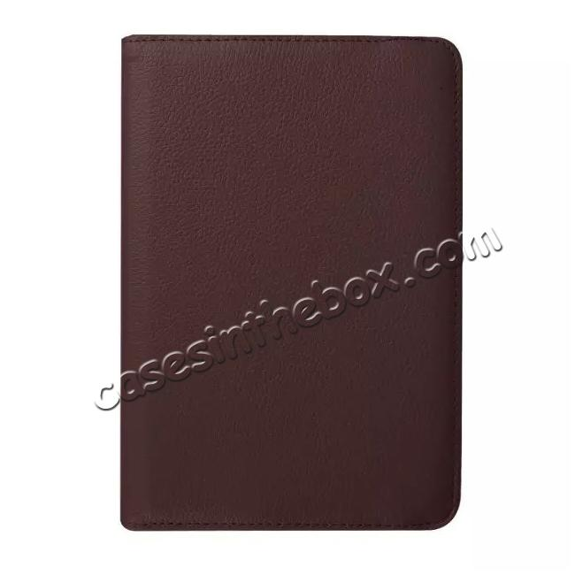 low price 360 Degrees Rotating Stand Leather Case For Samsung Galaxy Tab S2 8.0 T715 - Brown