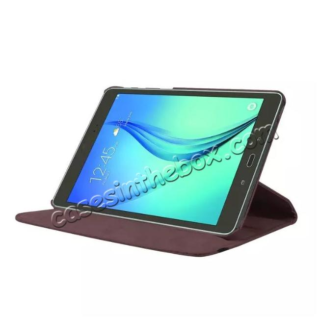 discount 360 Degrees Rotating Stand Leather Case For Samsung Galaxy Tab S2 8.0 T715 - Brown