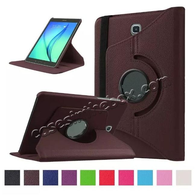 wholesale 360 Degrees Rotating Stand Leather Case For Samsung Galaxy Tab S2 8.0 T715 - Brown