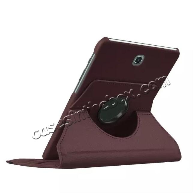 top quality 360 Degrees Rotating Stand Leather Case For Samsung Galaxy Tab S2 8.0 T715 - Brown