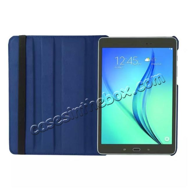 on sale 360 Degrees Rotating Stand Leather Case For Samsung Galaxy Tab S2 8.0 T715 - Dark blue