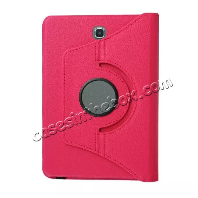 high quanlity 360 Degrees Rotating Stand Leather Case For Samsung Galaxy Tab S2 8.0 T715 - Hot pink