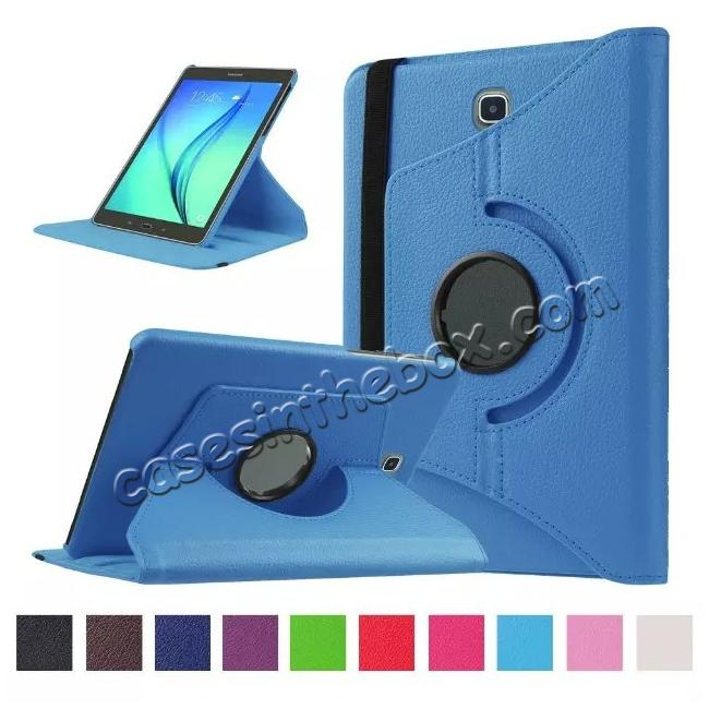 wholesale 360 Degrees Rotating Stand Leather Case For Samsung Galaxy Tab S2 8.0 T715 - Light blue