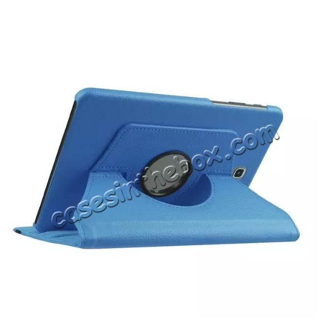 cheap 360 Degrees Rotating Stand Leather Case For Samsung Galaxy Tab S2 8.0 T715 - Light blue
