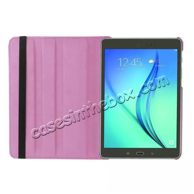 on sale 360 Degrees Rotating Stand Leather Case For Samsung Galaxy Tab S2 8.0 T715 - Pink