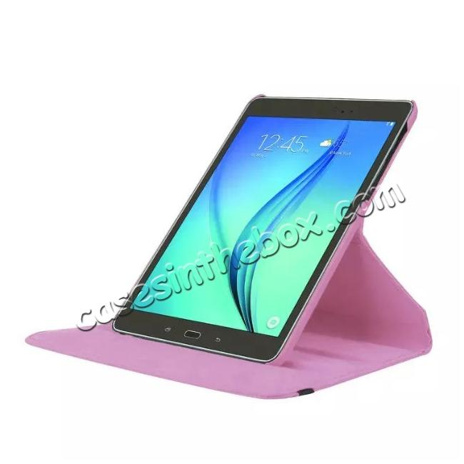 top quality 360 Degrees Rotating Stand Leather Case For Samsung Galaxy Tab S2 8.0 T715 - Pink