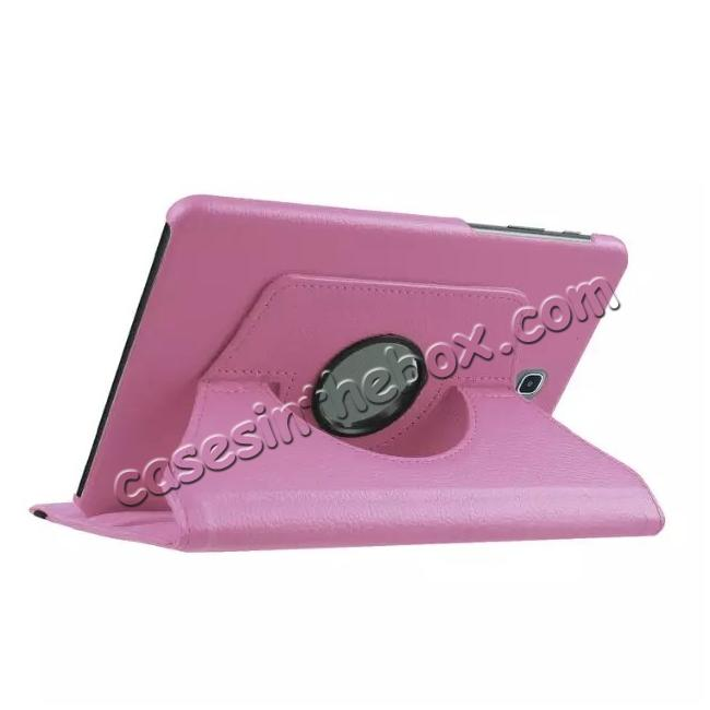 cheap 360 Degrees Rotating Stand Leather Case For Samsung Galaxy Tab S2 8.0 T715 - Pink