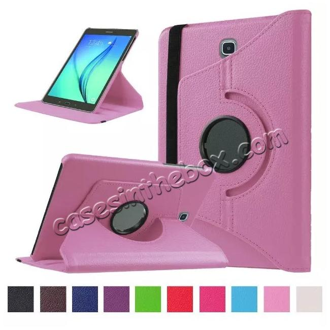 wholesale 360 Degrees Rotating Stand Leather Case For Samsung Galaxy Tab S2 8.0 T715 - Pink