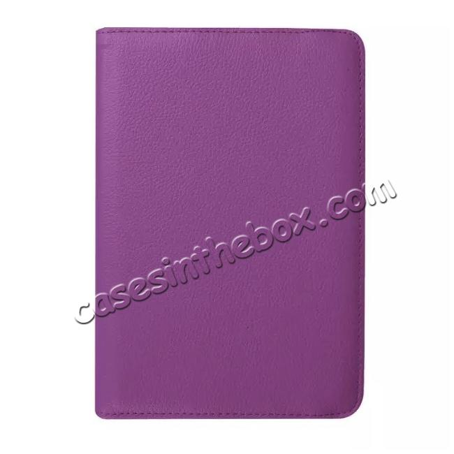 high quanlity 360 Degrees Rotating Stand Leather Case For Samsung Galaxy Tab S2 8.0 T715 - Purple