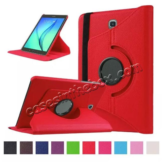 wholesale 360 Degrees Rotating Stand Leather Case For Samsung Galaxy Tab S2 8.0 T715 - Red