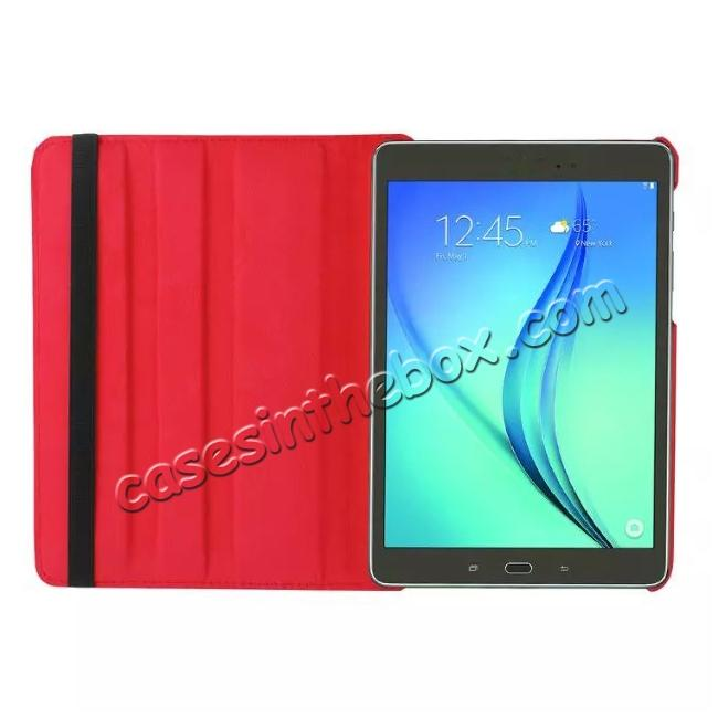 on sale 360 Degrees Rotating Stand Leather Case For Samsung Galaxy Tab S2 8.0 T715 - Red