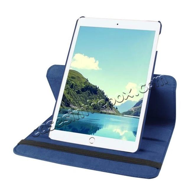 discount 360 Degrees Rotating Smart Stand Leather Case For iPad mini 4 - Dark blue