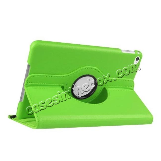 wholesale 360 Degrees Rotating Smart Stand Leather Case For iPad mini 4 - Green
