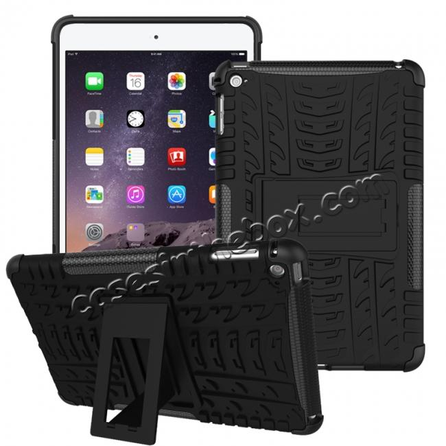 wholesale Hyun Pattern Dual Layer Hybrid ShockProof Case Cover For iPad mini 4 - Black