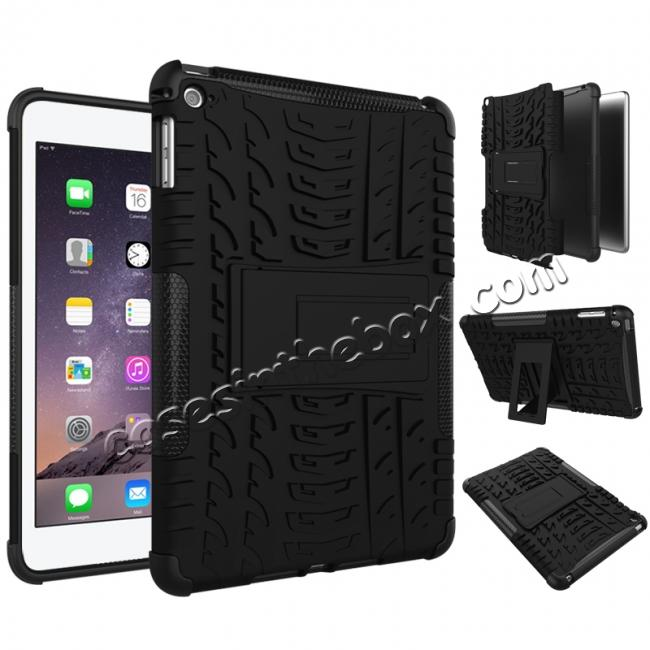 discount Hyun Pattern Dual Layer Hybrid ShockProof Case Cover For iPad mini 4 - Black
