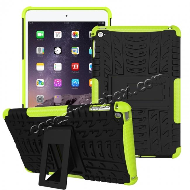 wholesale Hyun Pattern Dual Layer Hybrid ShockProof Case Cover For iPad mini 4 - Green