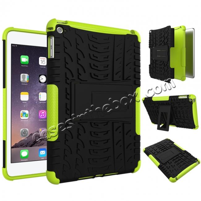 discount Hyun Pattern Dual Layer Hybrid ShockProof Case Cover For iPad mini 4 - Green
