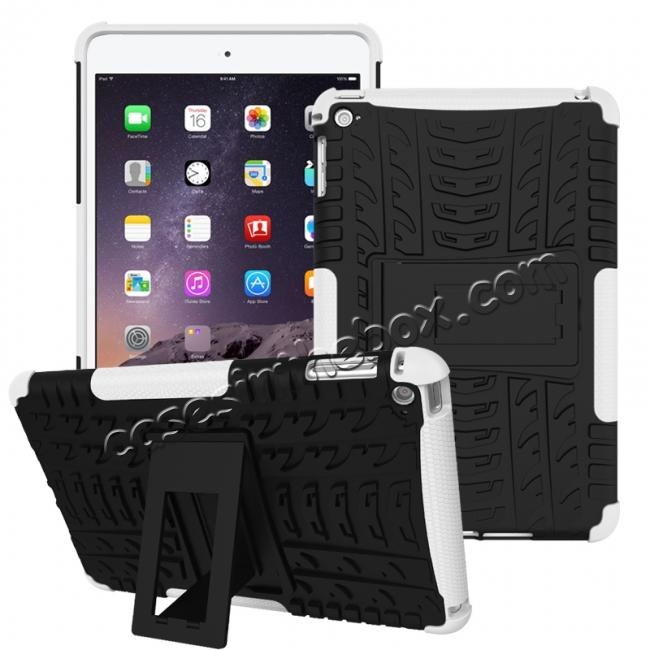 wholesale Hyun Pattern Dual Layer Hybrid ShockProof Case Cover For iPad mini 4 - White