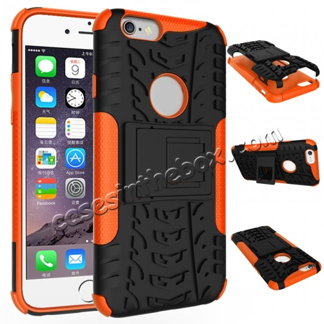 wholesale Hyun Pattern Dual Layer Hybrid Shockproof Case Cover for iPhone 6s - Orange