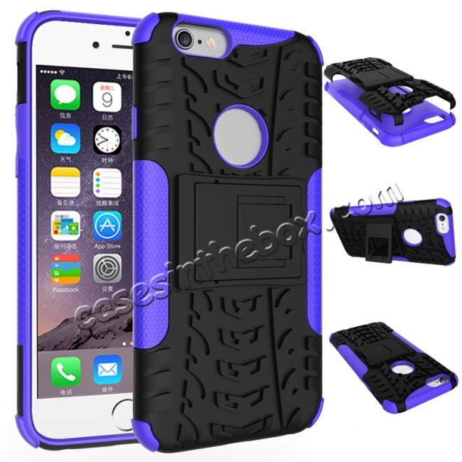 wholesale Hyun Pattern Dual Layer Hybrid Shockproof Case Cover for iPhone 6s - Purple